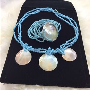 Shells & Beaded Necklace & Bracelet